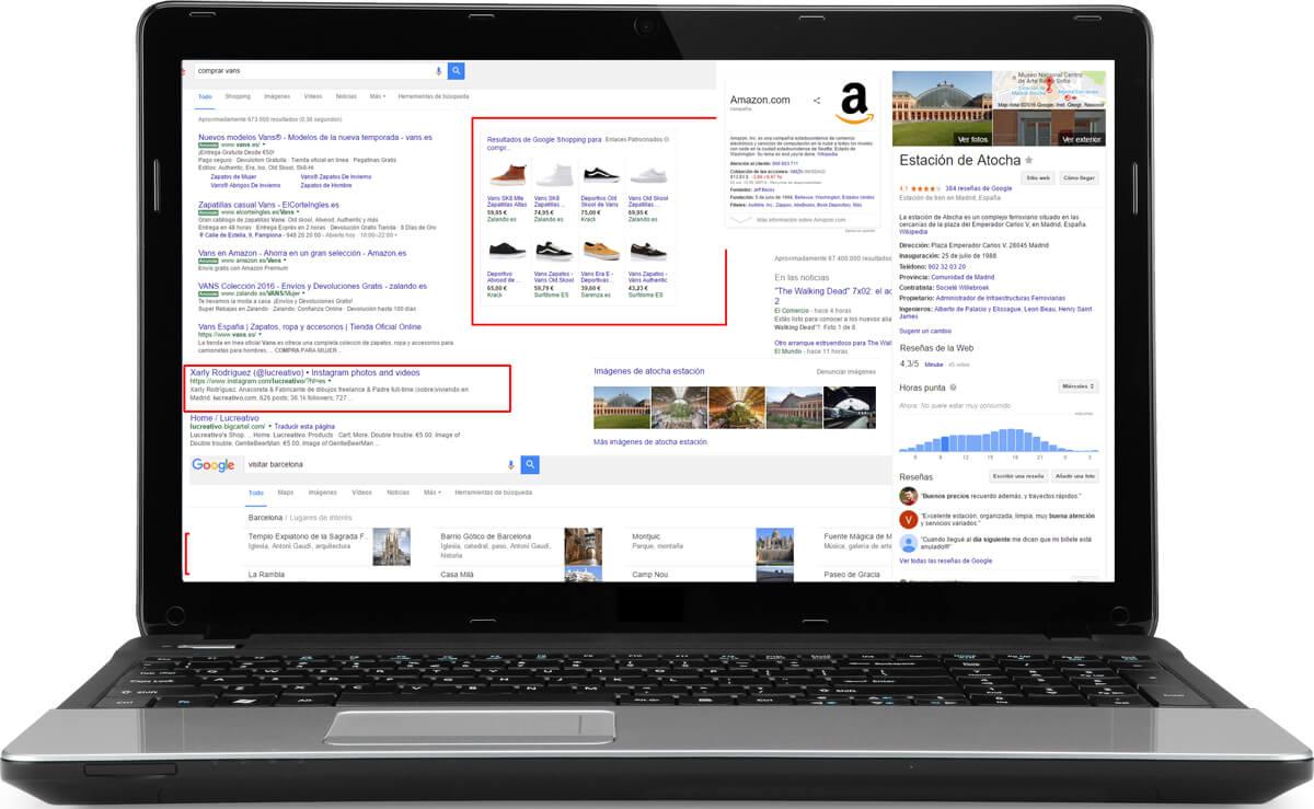 Todos los tipos de resultados en Google (y cómo aparecer en ellos)